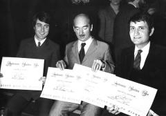 Michel Delpech, Eddie Barclay et Jean Leber 1969.jpg